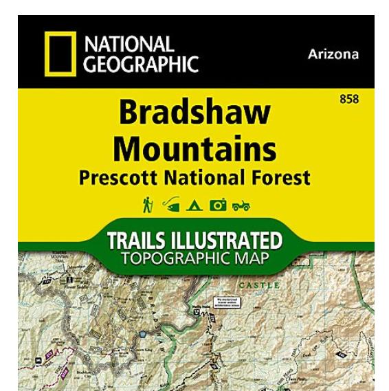 Nat geo map 858 bradshaw mountains