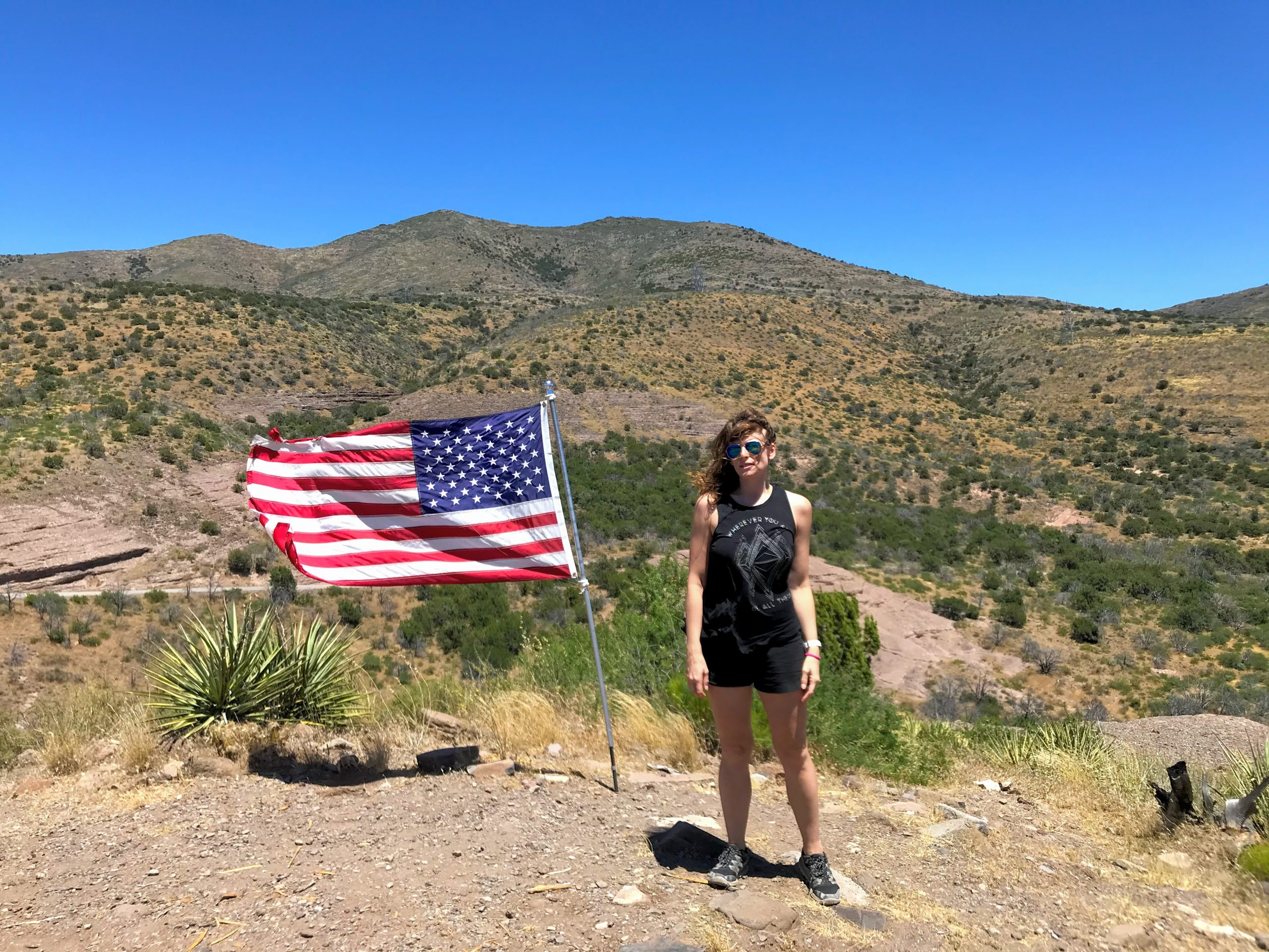 Bloody Basin Road Tonto National Forest American flag