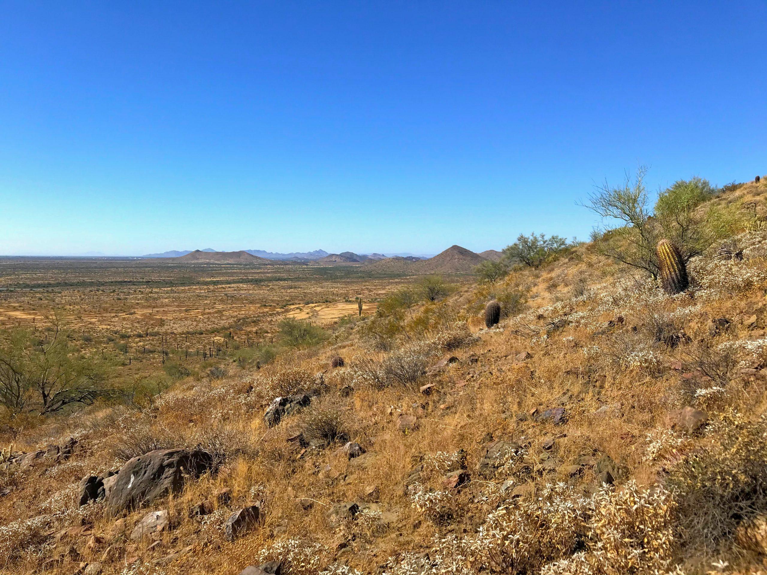 Ridgeline trail hike phoenix sonoran preserve phoenix mountains