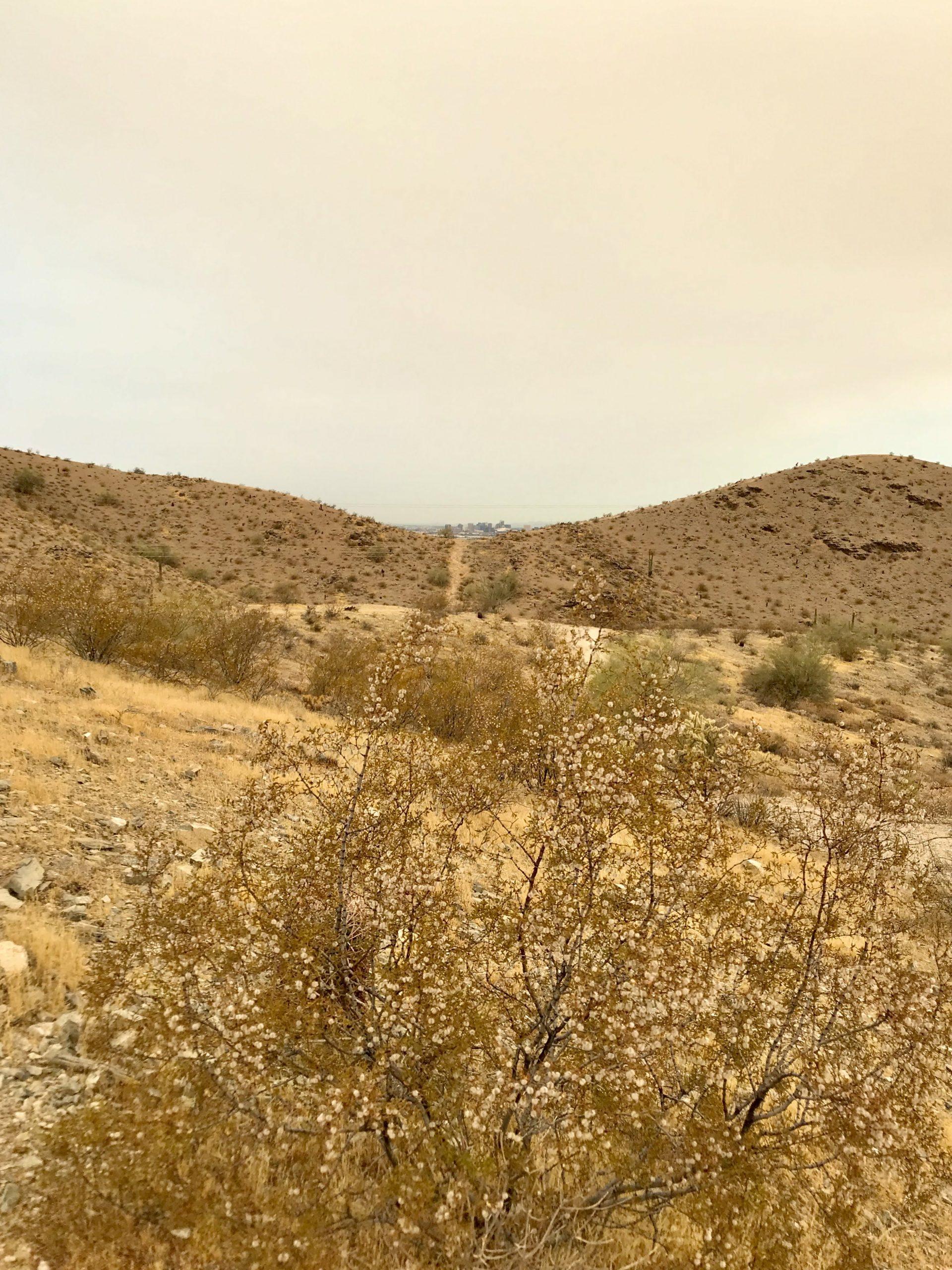 Ridgeline and Pima Wash Trail hike downtown Phoenix