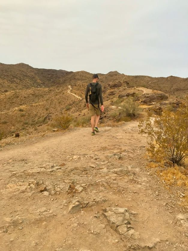 Ridgeline and Pima Wash Trail hike ridgeline