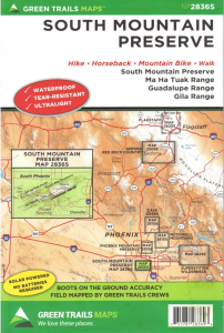 South Mountain Preserve Greentrails Map