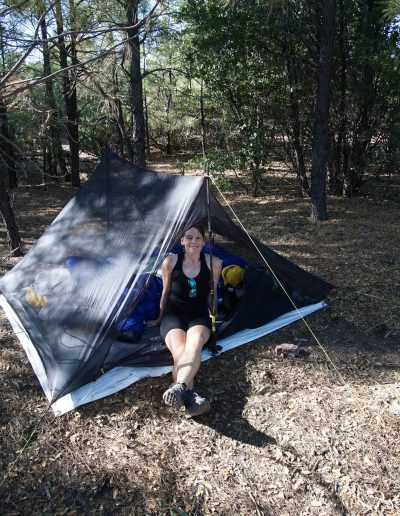 Dispersed Camping Fire Control Road (NF-64) Payson AZ pine campsite mesh tent