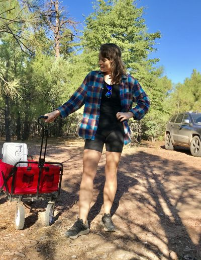 Dispersed Camping Fire Control Road (NF-64) Payson AZ cart